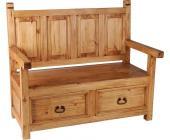 sitzbank mit r ckenlehne f r den innen und au enbereich. Black Bedroom Furniture Sets. Home Design Ideas