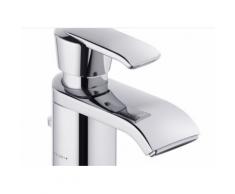 Kludi Waschtisch-Einhebelmischer DN 10 Joop! Ablaufgarnitur chrom/Glas/green, W270 55024H775
