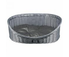 Trixie Polyrattan-Hundekorb grau wetterfest, Durchmesser: 60 cm