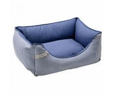 Hunter Hundesofa Midlum blau/weiß, Größe: S