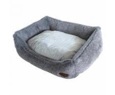 Nobby Hundebett eckig Cuddly hellgrau, Maße: 75 x 60 x 23 cm