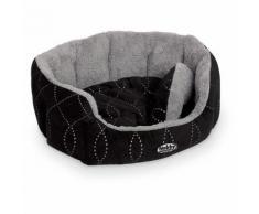 Nobby Hundebett oval Ceno schwarz/grau, Maße: 86 x 70 x 24 cm