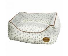 Nobby Hundebett eckig Alanis leopard grau, Maße: 60 x 48 x 19 cm
