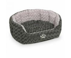 Nobby Hundebett oval Seoli dunkelgrau/hellgrau, Maße: 55 x 50 x 21 cm