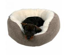 Trixie Kuschelbett Yuma braun/wollweiß für Hunde, Durchmesser: 55 cm