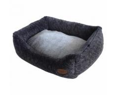 Nobby Hundebett eckig Cuddly dunkelgrau, Maße: 75 x 60 x 23 cm