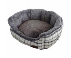Nobby Hundebett oval Checker hellgrau, Maße: 55 x 50 x 21 cm