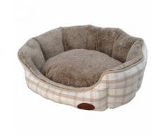 Nobby Hundebett oval Checker hellbraun, Maße: 86 x 70 x 24 cm