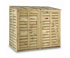 Waldbeck - Ordnungshüter 2T Mülltonnenbox 145x130x87cm (BxHxT) 2 Tonnen FSC-Kiefer
