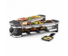 Klarstein - Tenderloin 100 Raclette-Grill 1200W 8 Personen 2x Natursteinplatte