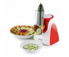 Klarstein - Carrot & Rock Salatschneider Gemüsehobel Reibe 150W 5 Aufsätze rot