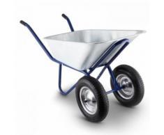 Waldbeck - Heavyload Schubkarre 120l 320kg Gartenkarre 2-Rad Stahl blau