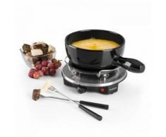 Klarstein - Sirloin Fondue-Set Käsefondue Raclette | 1200 Watt | Keramiktopf | Thermostat | Edelstahlgabeln