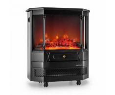 Klarstein - Castillo Elektrischer Kamin Halogen-Flammensimulation schwarz