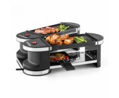 Klarstein - Tenderloin Mini Raclette-Grill 600W 360°-Basis 2 Grillplatten