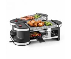 Klarstein - Tenderloin Mini Raclette-Grill 600W 360°-Basis 2 heiße Steine