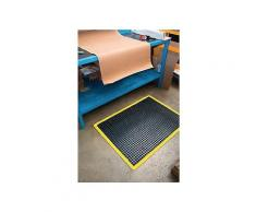 Arbeitsplatz-Bodenbelag Fertigmatte L1200xB900xS14mm schwarz/gelb Nitrilgummi
