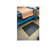 Arbeitsplatz-Bodenbelag Fertigmatte L900xB600xS14mm schwarz/gelb Nitrilgummi