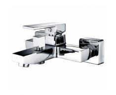 Quadratische Einhand Bad und Duscharmatur - Verchromt