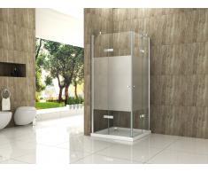 Duschkabine CANTO-FR 90 x 90 x 195 cm ohne Duschtasse