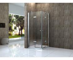 Duschkabine CANTO 100 x 80 x 195 cm ohne Duschtasse