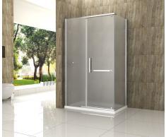 Duschkabine OPARGO-FR 100 x 80 x 195 cm ohne Duschtasse