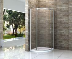 Duschkabine MONTARO 100 x 100 cm ohne Duschtasse