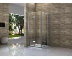 Duschkabine MARITIMO 100 x 90 x 195 cm ohne Duschtasse