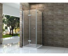 Falttür Duschkabine HELTO 100 x 100 x 195 cm ohne Duschtasse