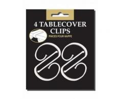 Tischdecken-Halter Clips Party-Deko 4 Stück weiss