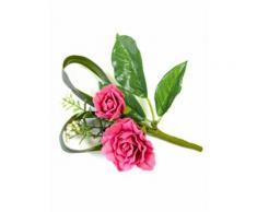 Rosen Blumenstrauß Dekoration Kunstblume pink-grün