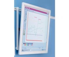 Projektionswand - für Doppel-Schienensystem - BxH 1450 x