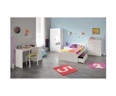 Jugendzimmer komplett in Weiß mit Schubladenbett (5-teilig)