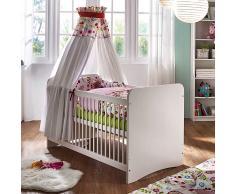 Massivholz Babybett mit Schlupfsprossen Weiß