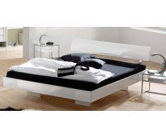 Doppelbett in Hochglanz Weiß