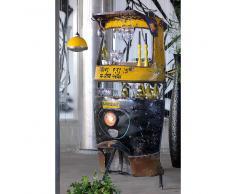 Ausgefallene Bartheke in Gelb Schwarz Metall