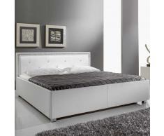 Polsterbett mit Metallfüßen Weiß