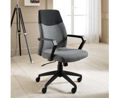 Bürodrehstuhl mit Armlehne Schwarz Grau