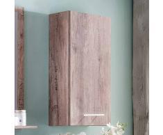 Badezimmer Hängeschrank in Eiche Weinkisten Optik 70 cm hoch