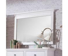 Massivholzrahmen Spiegel in Weiß Fichte Massiv