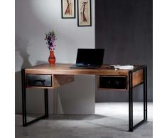 Computertisch in Schwarz-Sheeshamfarben Metall