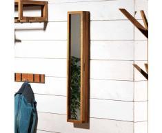 Schlüsselkasten mit Spiegel Eiche Massivholz