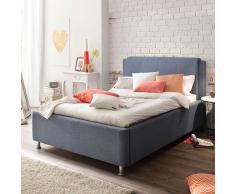 Komfortbett in Blau Bettkasten