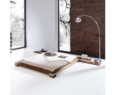 Futonbett mit Nachtkommoden Buche Massivholz