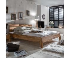 Bett aus Wildeiche massiv geölt