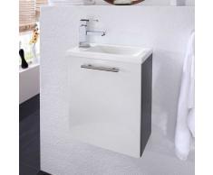 Gäste WC Waschtisch in Weiß Hochglanz Anthrazit 40 cm breit