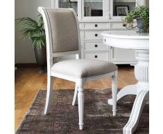 Stuhl Set in Beige Weiß Buche massiv (2er Set)
