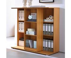 Büroregal in Buchefarben Buche Dekor
