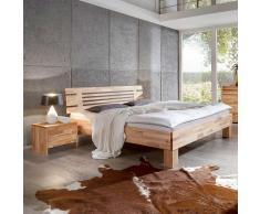 Einzelbett aus Kernbuche Massivholz modern (2-teilig)