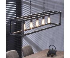 Deckenleuchte im Industry Style Metall Schwarz